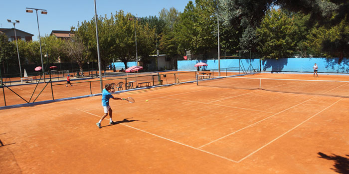 Red clay courts outdoor