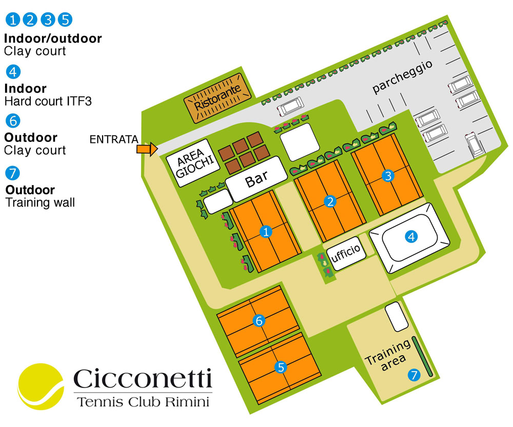 Tennis Club Cicconetti Maps